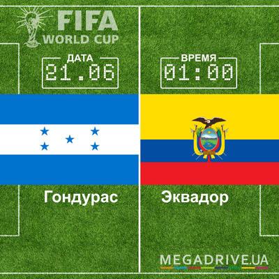Угадай счет матча Гондурас - Эквадор – получи приз!