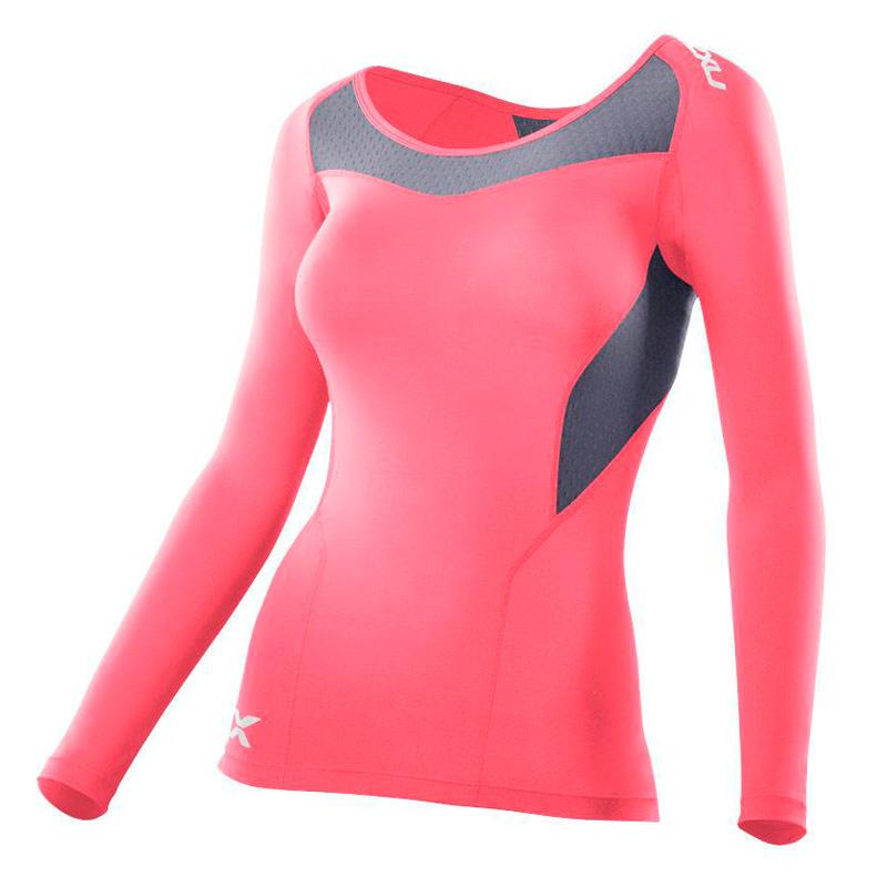 Женская компрессионная футболка Base Compression L/S Top 2XU WA2270a