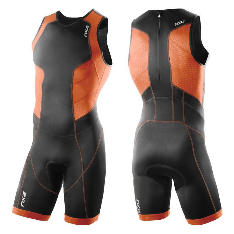 Мужской костюм для триатлона с молнией сзади 2XU MT3198d