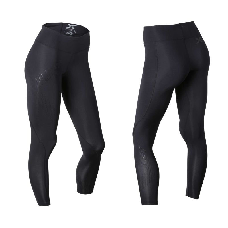 Женские компрессионные тайтсы средней посадки Mid-Rise Compression Tights 2XU WA2864b