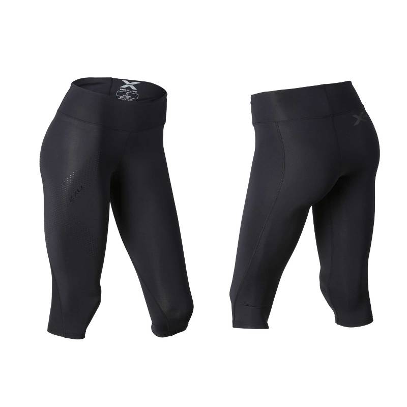 Женские компрессионные тайтсы средней посадки Mid-Rise 3/4 Compression Tights 2XU WA2865b