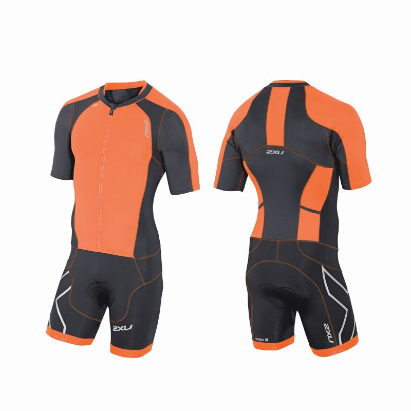 Мужской костюм для триатлона Compression Sleeved Full Zip Trisuit 2XU MT3613d