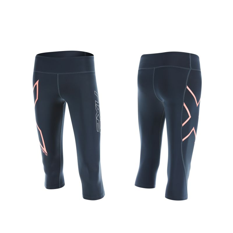 Женские компрессионные тайтсы средней посадки Hyoptik Mid-Rise 3/4 Compression Tights 2XU WA4171b