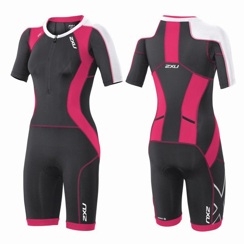 Женский костюм для триатлона Compression Sleeved Trisuit 2XU WT3618d