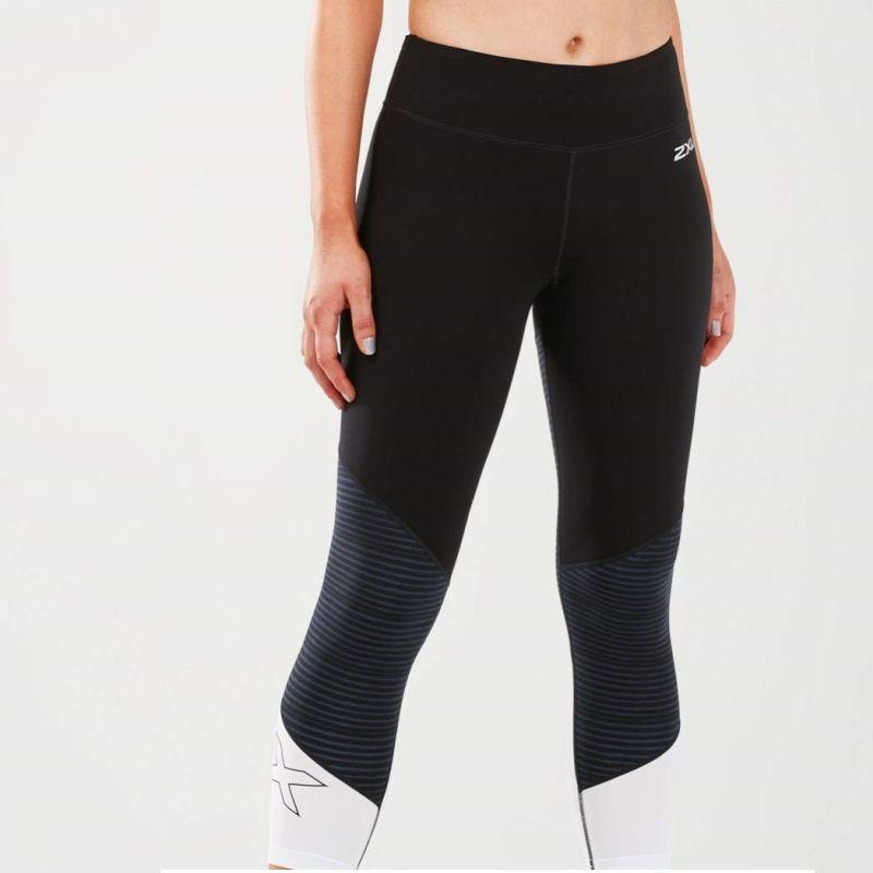 Женские компрессионные лосины Fitness Mid-Rise Colour Block 2XU WA5389b