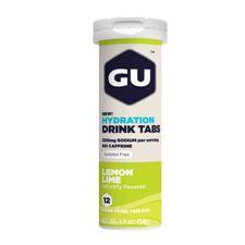 Растворимые таблетки-электролиты GU Лимон / Лайм (Без кофеина), 12 шт