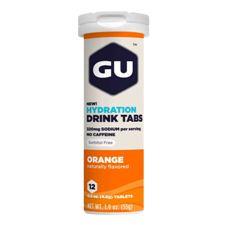 Растворимые таблетки-электролиты GU Апельсин (Без кофеина), 12 шт