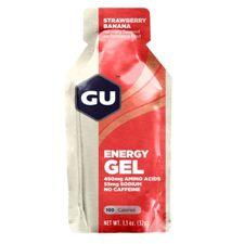 Энергетический гель GU Клубника / Банан (Без кофеина)