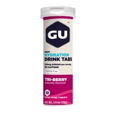 Растворимые таблетки-электролиты GU Три ягоды (Без кофеина), 12 шт