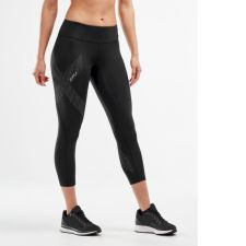 Женские компрессионные тайтсы средней посадки Mid-Rise 7/8 Compression Tights 2XU WA3516b