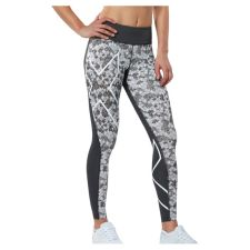 Женские компрессионные тайтсы средней посадки Pattern Mid-Rise Compression Tights 2XU WA3842b