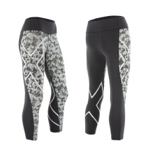 Женские компрессионные тайтсы средней посадки Pattern Mid-Rise 7/8 Compression Tights 2XU WA3843b
