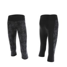 Женские компрессионные тайтсы средней посадки Pattern Mid-Rise 3/4 Compression Tights 2XU WA3844b