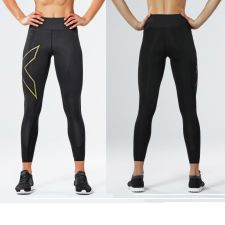 Женские компрессионные тайтсы средней посадки MCS Bonded Mid-Rise Compression Tights 2XU WA4529b
