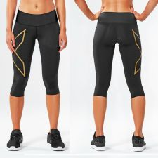 Женские компрессионные тайтсы средней посадки MCS Bonded Mid-Rise 3/4 Compression Tights 2XU WA4530b