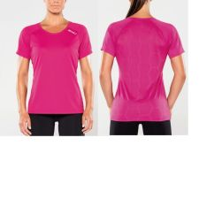Женская компрессионная футболка Base Compression L/S Top 2XU WA2270aBlueGray