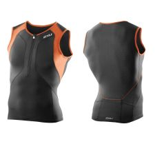 Мужская майка для триатлона Perform Compression Tri Singlet 2XU MT3100aBlackLotusOrange