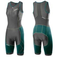 Женский костюм для триатлона Perform Compression Trisuit 2XU WT3113dCharcoalLagoon