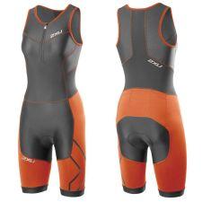 Женский костюм для триатлона Perform Compression Trisuit 2XU WT3113dCharcoalLotusOrange