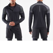 Мужской гольф GHST 1/2 Zip 2XU MR6206aBlackWhite