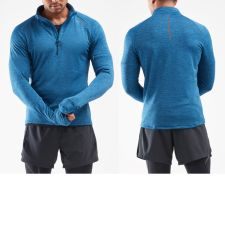 Мужской гольф PURSUIT Thermal 1/4 Zip 2XU MR6231aPoseidonSilverReflective