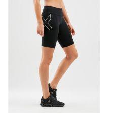 Женские компрессионные шорты Run Dash Mid-Rise 2XU WA6182bBlackSilverReflective