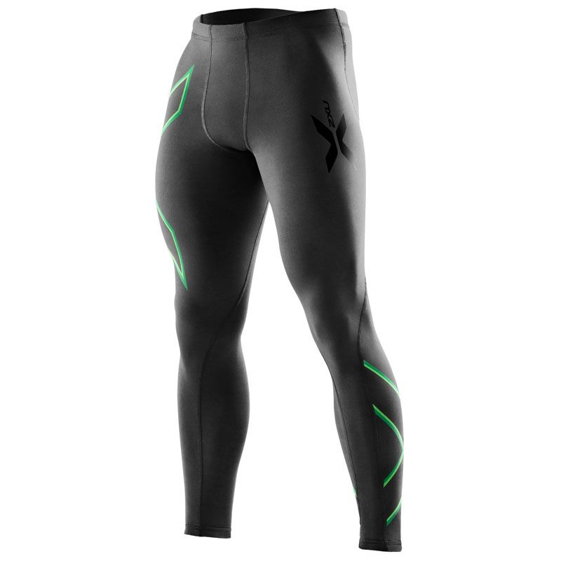 Компрессионные тайтсы Base 2XU MA1967bBlackGreen