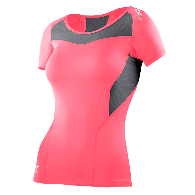 Женская компрессионная футболка Base Compression S/S Top 2XU WA2269aMandarinGray