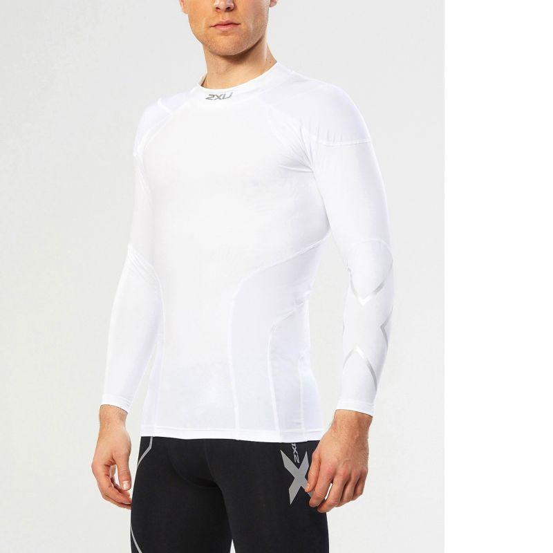 Компрессионная футболка ДР Elite L/S Top 2XU MA1964aWhiteSilver