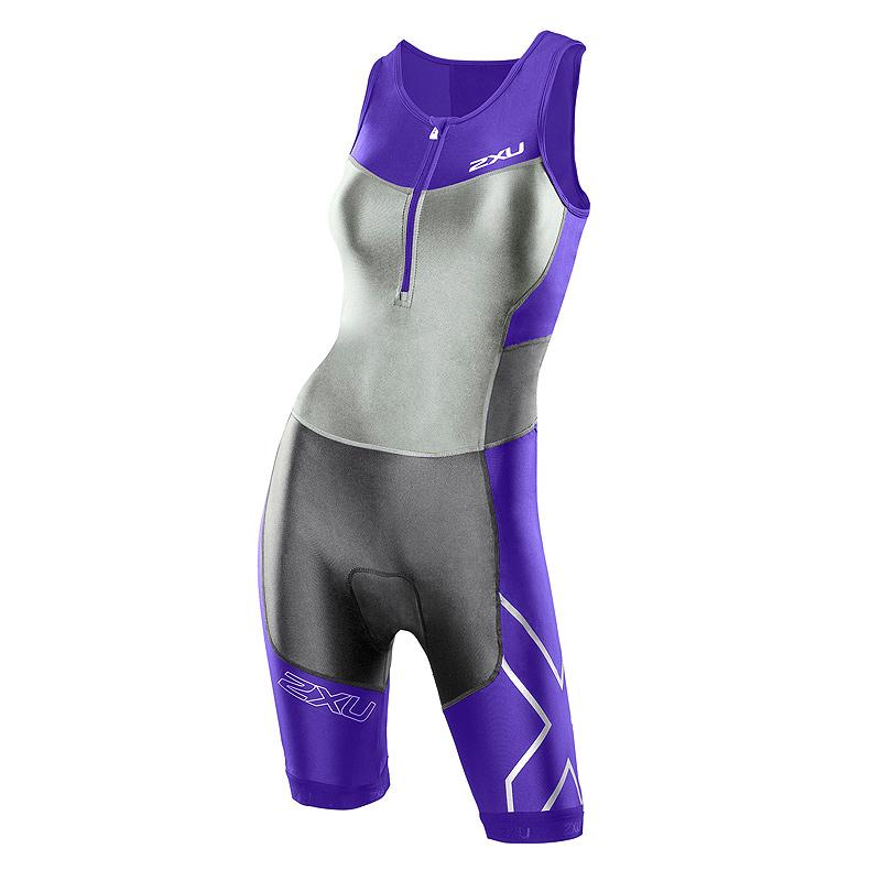 Женский костюм для триатлона Compression Trisuit 2XU WT2701dPurpleCharcoal