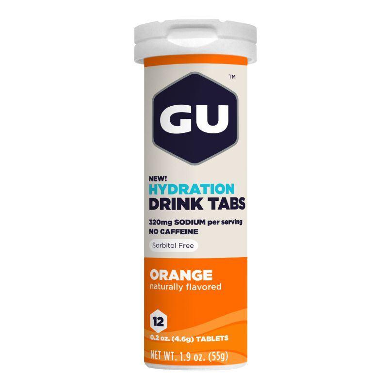 Растворимые таблетки-электролиты GU Апельсиновый
