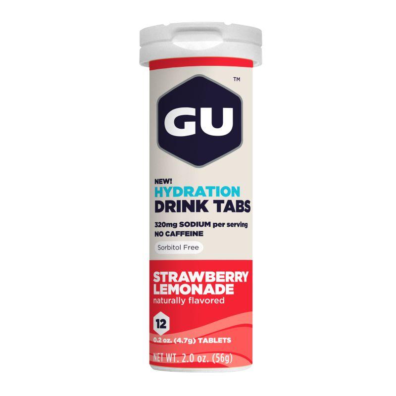 Растворимые таблетки-электролиты GU Клубника (Без кофеина), 12 шт