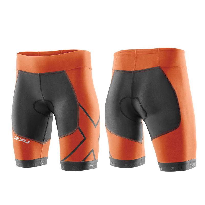 Женские шорты для триатлона Perform Compression Tri Short 2XU WT3115bCharcoalLotusOrange