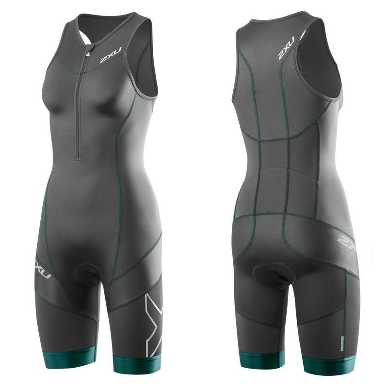 Женский костюм для триатлона Elite Compression Trisuit 2XU WT3110dBlackLagoon