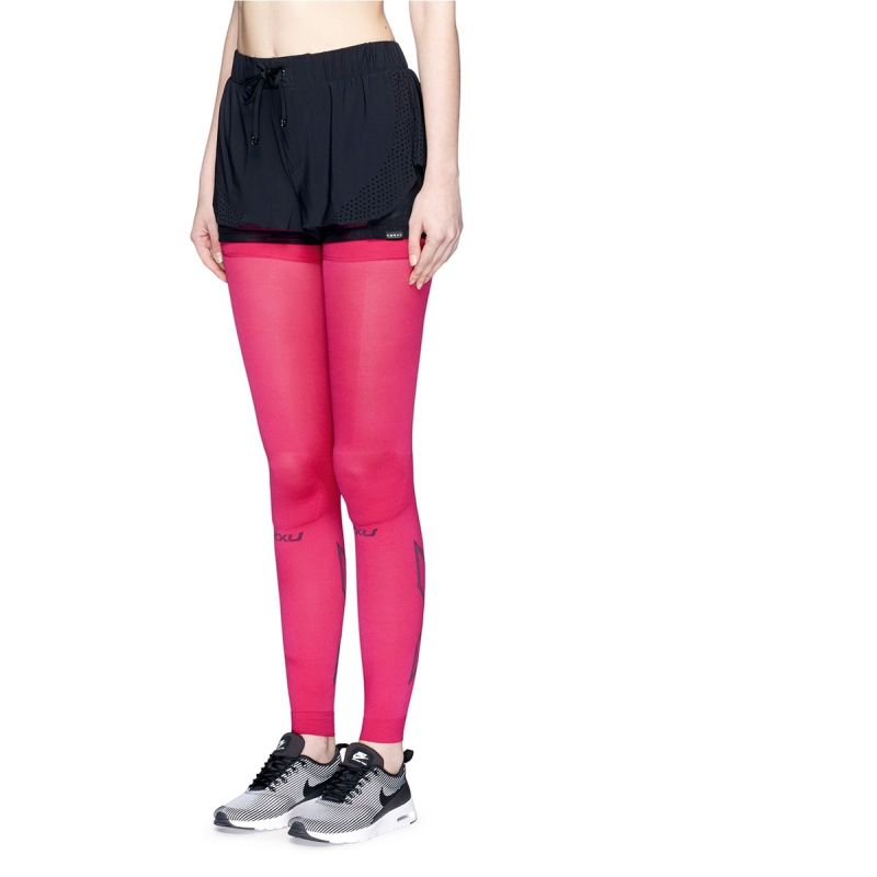 Компрессионные чулки Compression Flex Leg Sleeves 2XU UA3568bCherryPink