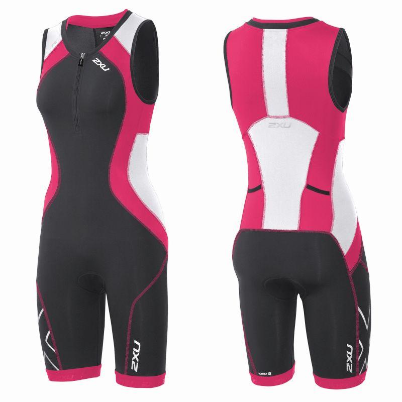 Женский костюм для триатлона Compression Trisuit 2XU WT3619dCharcoalCherryPink