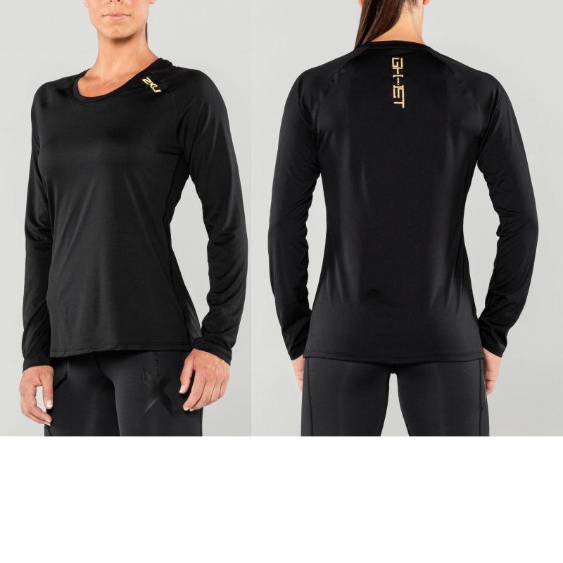 Женская футболка с длинным рукавом GHST 2XU WR4419aBlackGold