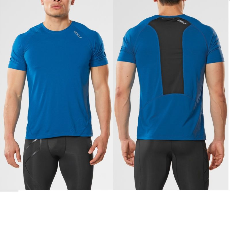 Мужская футболка X Ctrl 2XU MR4326aDirectorBlueBlack