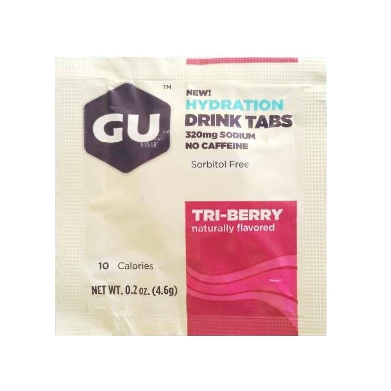 Растворимые таблетки-электролиты GU, Три ягоды, 1 таблетка GU Три ягоды