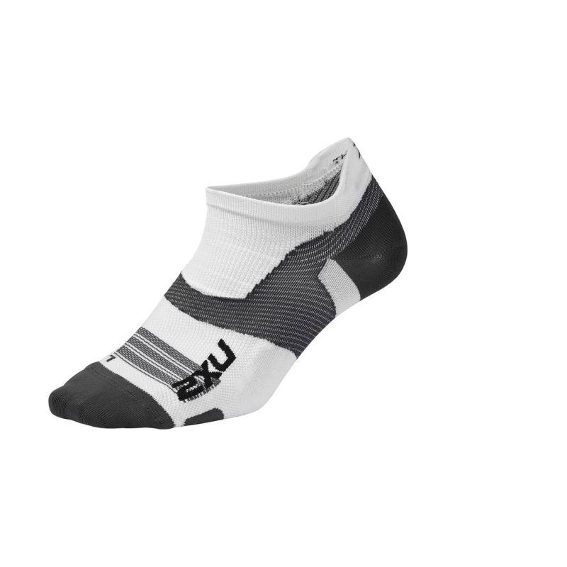 Компрессионные носки Elite Vectr Ultralight No Show 2XU UA5041eWhiteGrey