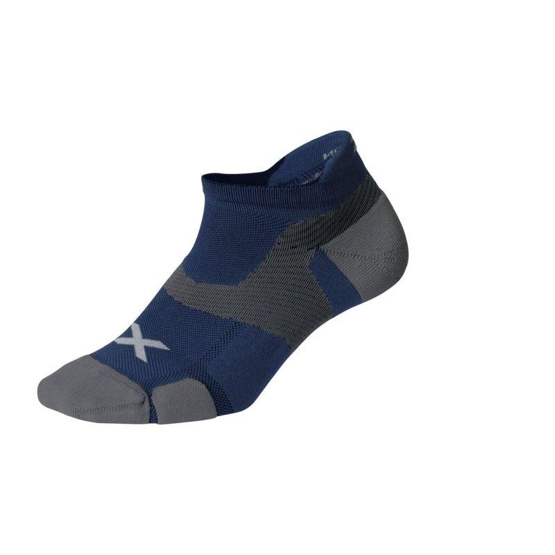 Компрессионные носки Elite Vectr Cushion No Show 2XU UA5043eBlueSteelGrey