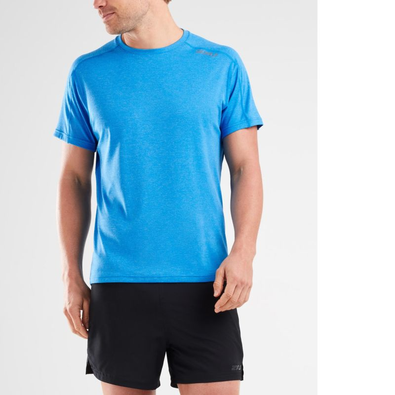 Мужская футболка КР Xvent G2 2XU MR6143aBlueSilverLogo