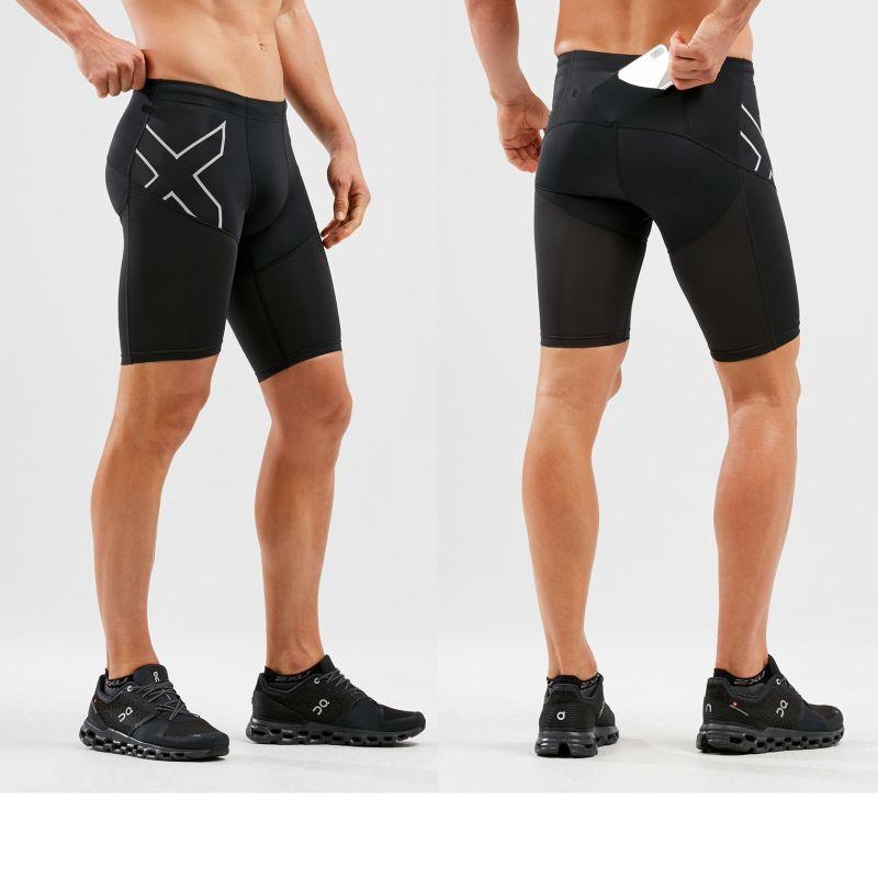 Компрессионные шорты Run Dash 2XU MA6108bBlackSilverReflective
