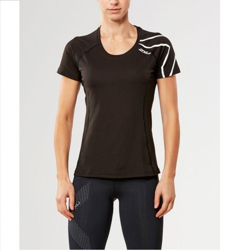 Женская футболка КР Active 2XU WR4292aBlackWhite