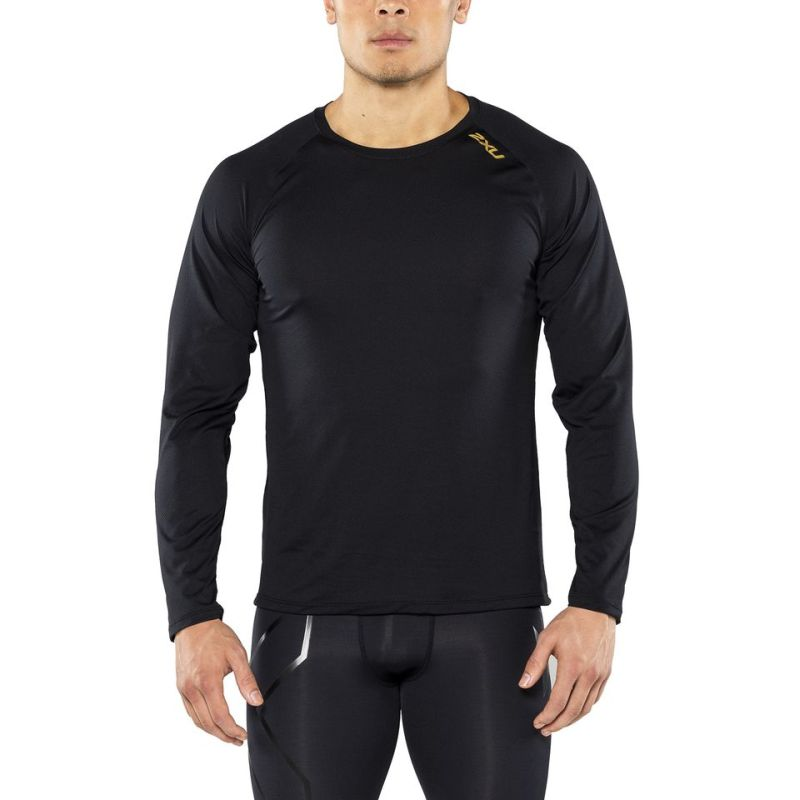 Мужская футболка с длинным рукавом GHST 2XU MR4252aBlackGold