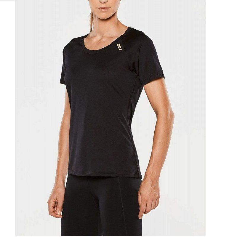 Женская футболка GHST 2XU WR4273aBlackGold