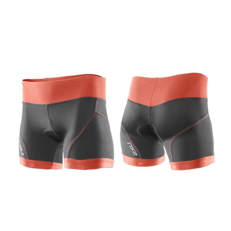 Женские шорты для триатлона Perform Low Rise Tri Short 2XU WT2708bCharcoalSunsetOrange