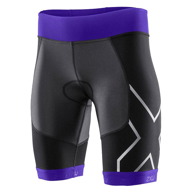 Женские шорты для триатлона Compression Tri Short 2XU WT2703bBlackPurple