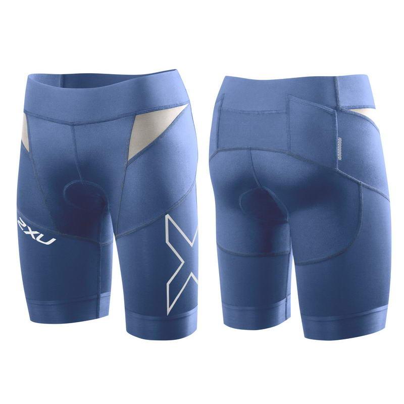 Женские шорты для триатлона Elite Compression Tri Short 2XU WT3112bPacificBlue