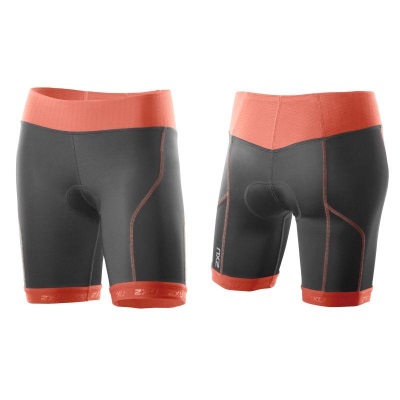Женские шорты для триатлона Perform Tri Short 2XU WT2852bCharcoalSunsetOrange